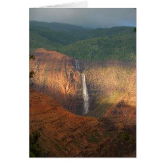 Waimea Canyon Waterfall Card