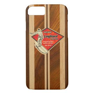 Waimea Surfboard Hawaiian Faux Koa Wood Red Case-Mate iPhone Case
