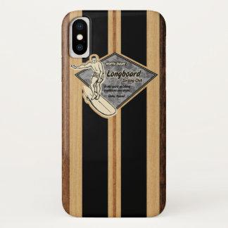 Waimea Surfboard Hawaiian Faux Wood iPhone X Case
