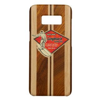 Waimea Surfboard Hawaiian Red Diamond Faux Wood Case-Mate Samsung Galaxy S8 Case