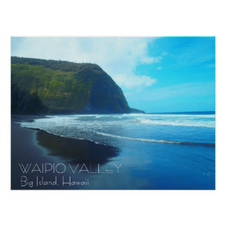 Waipio Valley Big Island Hawaii scenic poster