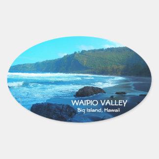 Waipio Valley Big Island Hawaii scenic stickers