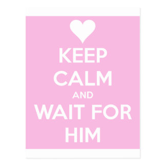 Wait For Him Postcard