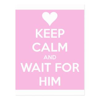 Wait For Him Postcard