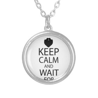 WAIT FOR SANTA SILVER PLATED NECKLACE