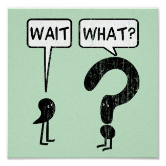 Wait, What? Grammar Humor Poster