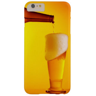 Waiter pouring beer, glass of a cold drink barely there iPhone 6 plus case