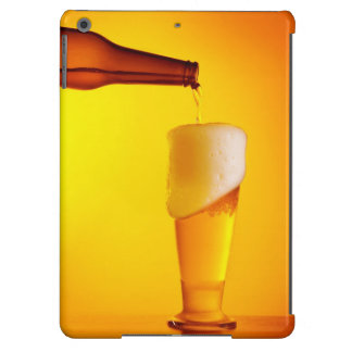 Waiter pouring beer, glass of a cold drink iPad air cover