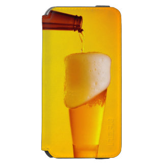 Waiter pouring beer, glass of a cold drink incipio watson™ iPhone 6 wallet case
