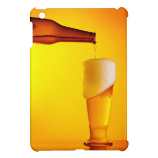 Waiter pouring beer, glass of a cold drink iPad mini cases