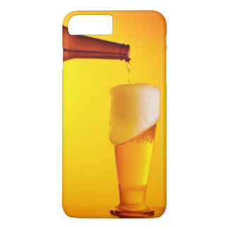 Waiter pouring beer, glass of a cold drink iPhone 7 plus case