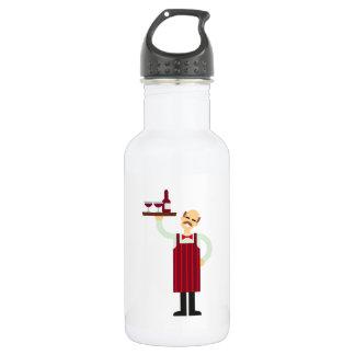 Waiter with Wine 532 Ml Water Bottle
