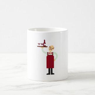 Waiter with Wine Coffee Mug