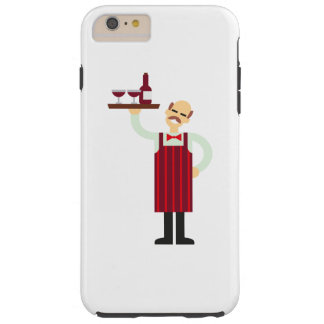 Waiter with Wine Tough iPhone 6 Plus Case