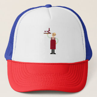 Waiter with Wine Trucker Hat