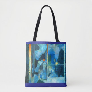 WAITING all-over design tote bag
