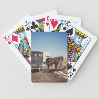 Waiting Amish Horse and Buggy Bicycle Playing Cards