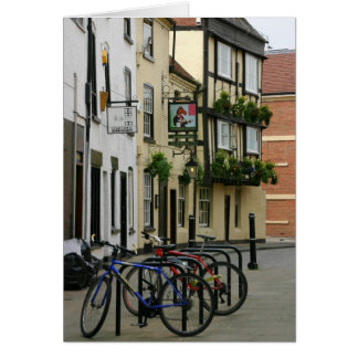 Waiting Bicycles, Worcester, England Card