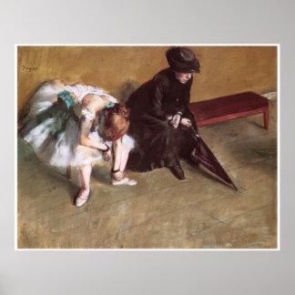 Waiting, c. 1882, Edgar Degas Poster