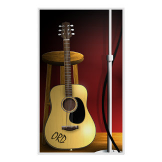 Waiting Encore Acoustic Guitar Poster