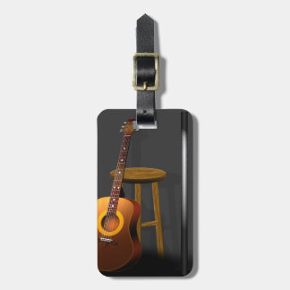 Waiting Encore Guitar Stool and Mike Luggage Tag