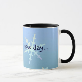 Waiting for a snow day... mug