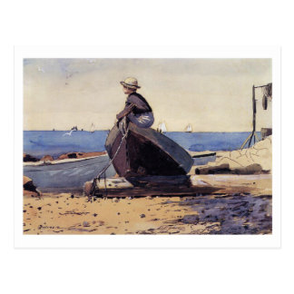 Waiting for Dad by Winslow Homer Postcard