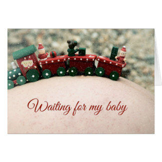 Waiting For My Baby Maternity Christmas Card
