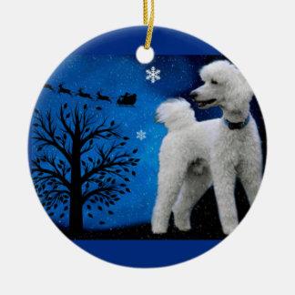Waiting for Santa Ceramic Ornament