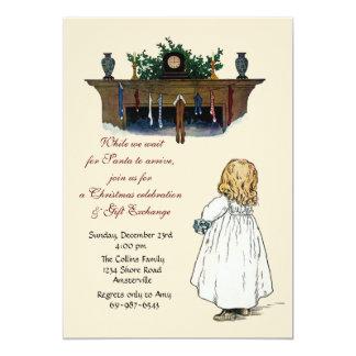 Waiting for Santa - Gift Exchange Invitation
