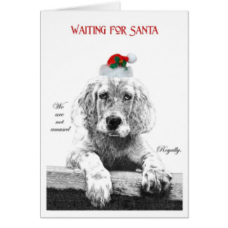 Waiting for Santa IV Card