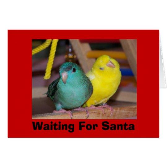 Waiting For Santa, Merry Christmas card