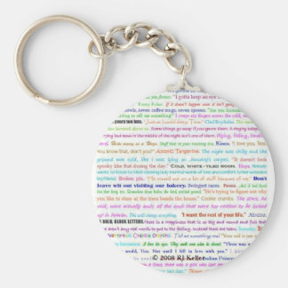Waiting For Spring keychain, quotes Keychain