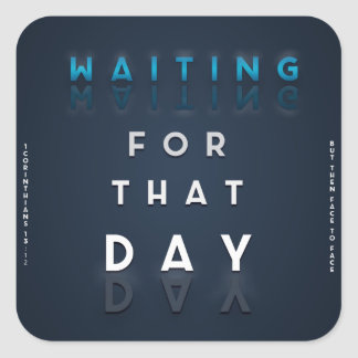 Waiting For That Day Faith Logo Christian Sticker