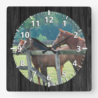Waiting for the next ride square wall clock
