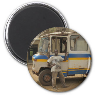 Waiting for the passengers in Djenne, Mali 2 Inch Round Magnet