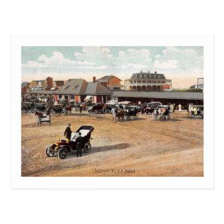 Waiting for the Train, Sea Bright, NJ 1907 Vintage Postcard