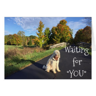 "WAITING FOR ""YOU"" AND ""MISSING"" YOU, TOO!THI CARD"