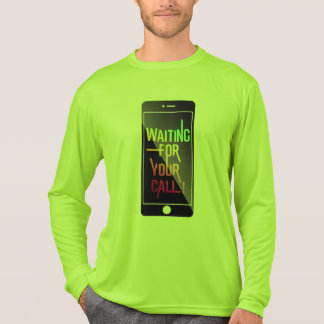 Waiting for your cal Activewear green-yellow T-Shirt