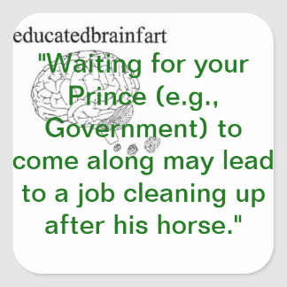 Waiting for Your Prince Truth Square Sticker