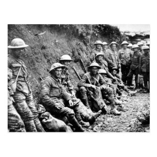 Waiting in the Trenches WWI Postcard