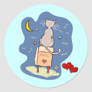 Waiting on a Love Letter Classic Round Sticker