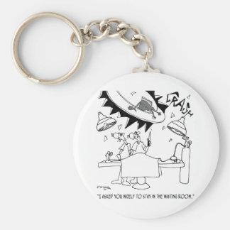 Waiting Room Cartoon 9481 Keychain