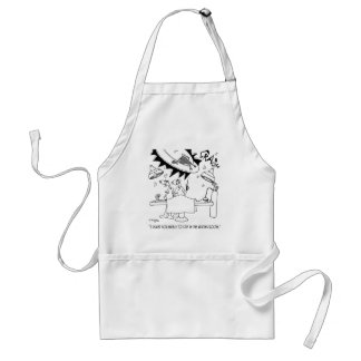 Waiting Room Cartoon 9481 Standard Apron