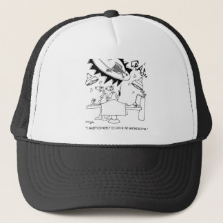 Waiting Room Cartoon 9481 Trucker Hat