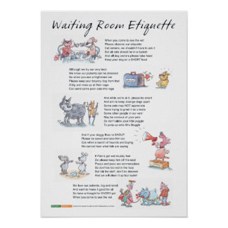 Waiting Room Etiquette - A2 Poster