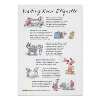 Waiting Room Etiquette - A3 Poster