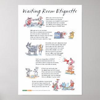 Waiting Room Etiquette Poster