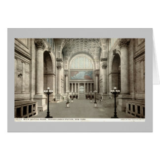 Waiting Room, Pennsylvania Station NY 1913 Vintage Card