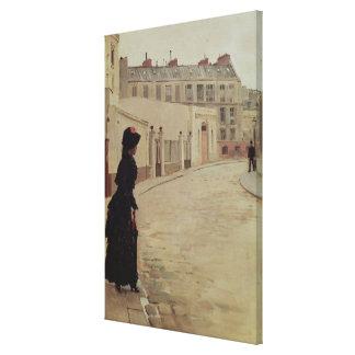 Waiting, Rue de Chateaubriand, Paris Canvas Print
